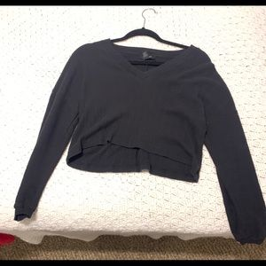 Cropped black sweater!